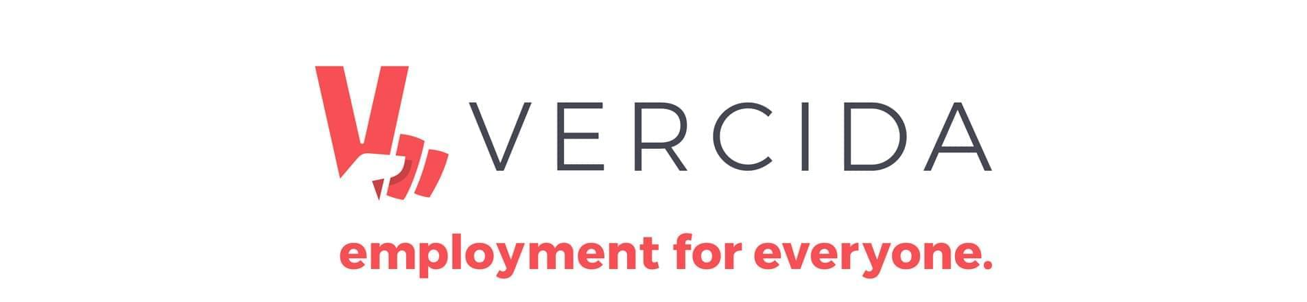 VERCIDA Logo with the text 'employment for everyone'