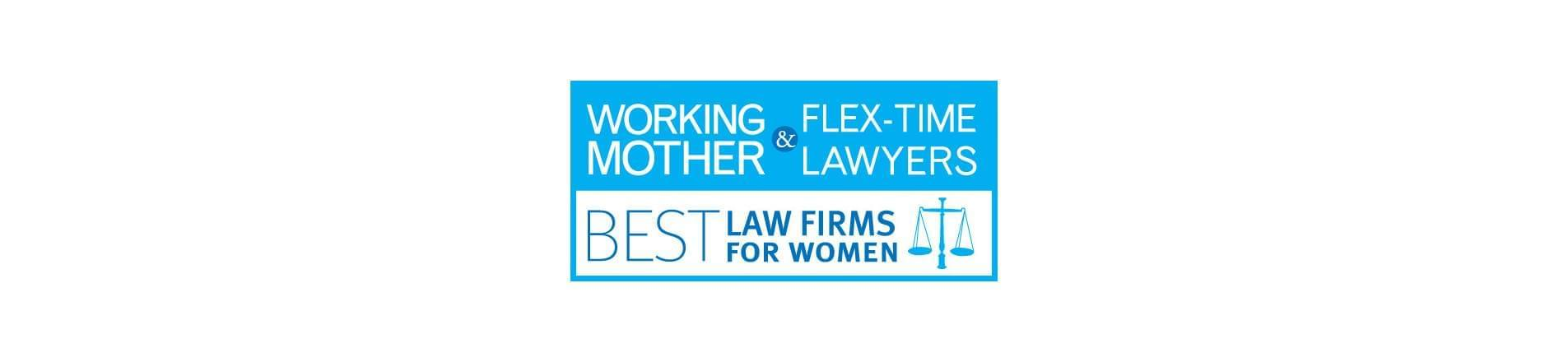 Working Mother and Flex-Time Lawyers Best Law Firms For Women logo