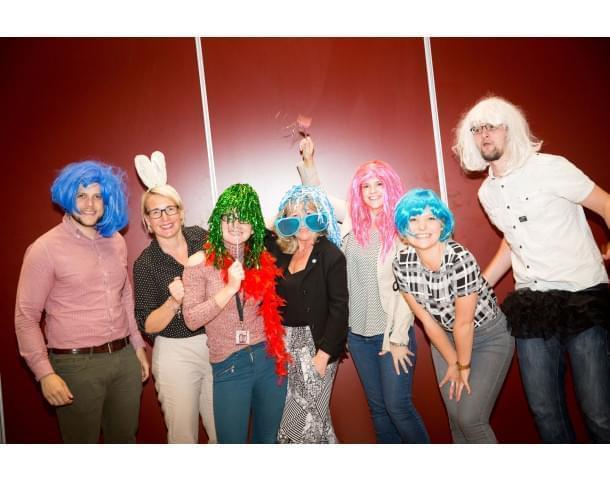 Deafness Support Network Staff Development Day staff image in fancy dress