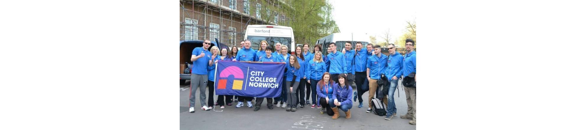 City College Norwich taking part in  Charity walk