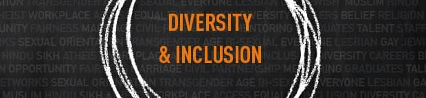 the words 'Diversity & Inclusion'