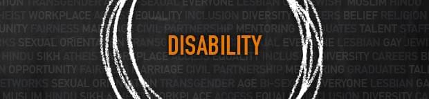 Branded thebigidea image with words Disability in centre