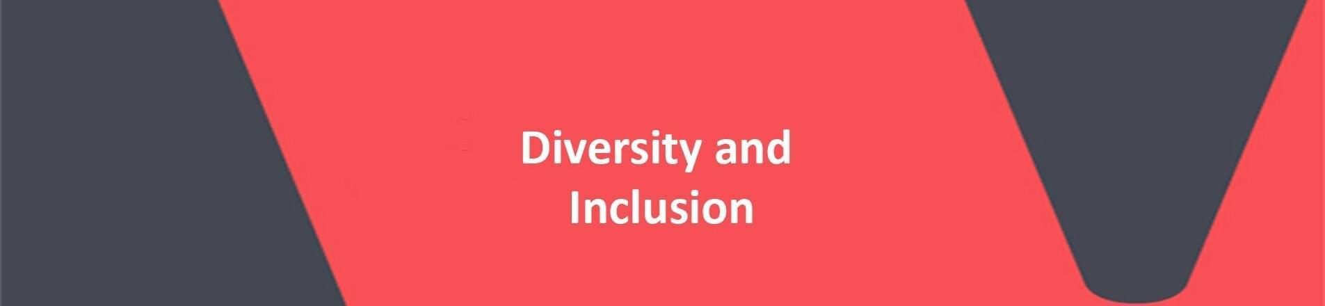 Diversity and Inclusion on red VERCIDA background