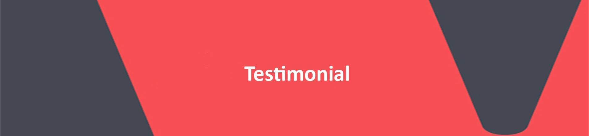 Word testimonial on VERCIDA branded background