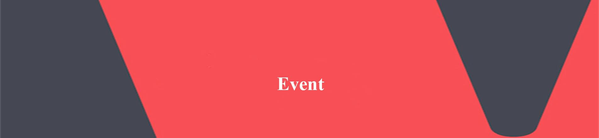 The word event on red VERCIDA branded background