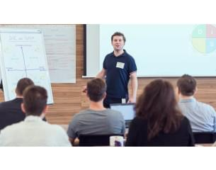 Image of  CA technologies employee giving a presentation